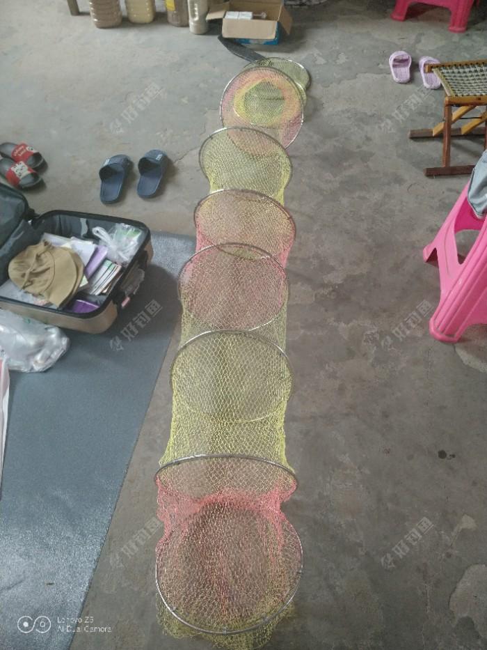 自织鱼护及抄网,我的创意DIY