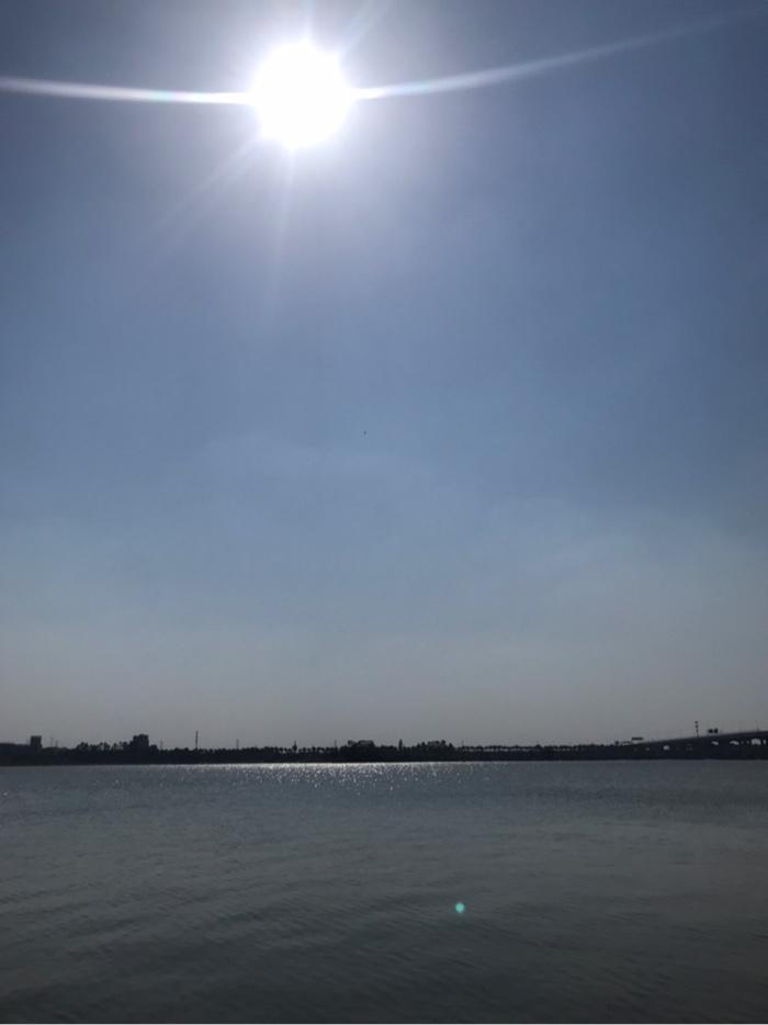 来到钓点,天空挂着炎热的太阳🌞,刚好有平台的清凉帽