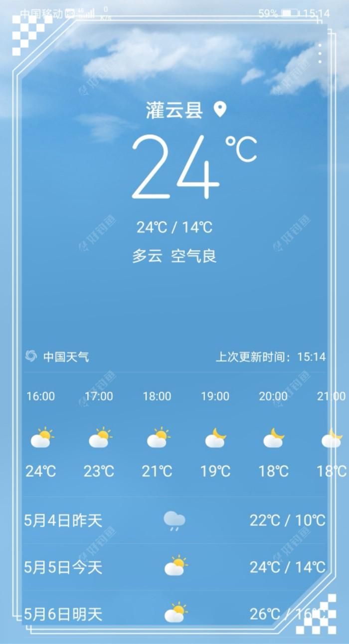 今天的气温很不错,阳光也很好。
