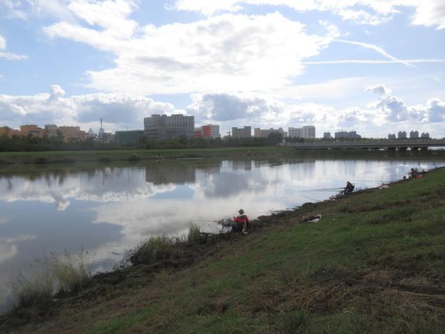 去年洪水期间,我每天都去钓旱河